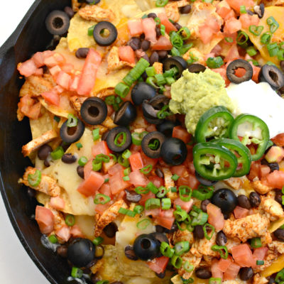 Easy Chicken Skillet Nachos